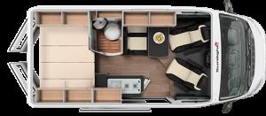 Furgo camper: distribución interior