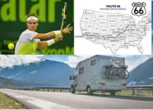 Rafa Nadal y su Ruta 66 en autocaravana