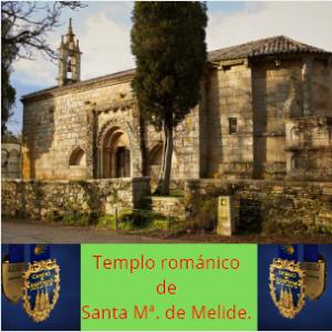 Templo románico, Melide.