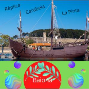 """Camino de Santiago portugués por la costa: réplica de la carabela """"La Pinta""""."""