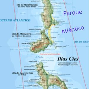 Islas Cíes, en la ría de Vigo.