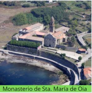 Camino de Santiago: monasterio de Oia.