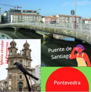Puente de Santiago e Iglesia de La Peregrina, Pontevedra.