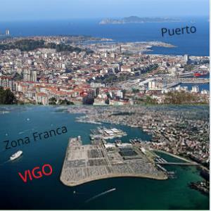 Zona Franca y Puerto de Vigo.