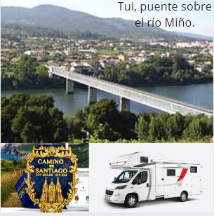 Tui, puente sobre el río Miño.