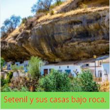 Viviendas incrustadas en la roca